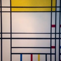 COMPOSITION NEOPLASTIQUE (1) Trilogie Hommage a P Mondrian Acrylique sur toile 80 x 80 cm