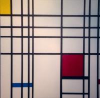 COMPOSITION NEOPLASTIQUE (2) Trilogie Hommage a P Mondrian Acrylique sur toile 80 x 80 cm
