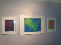 EQUILIBRE DESEQUILIBRE Acrylique sur papier triptyque 29x20 + 49x29 + 29x20 cm