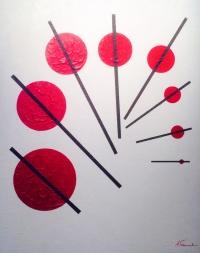 MULTI DUALITE (2) Acrylique sur toile 92 x 73 cm