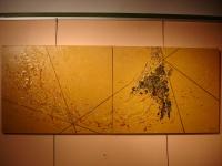 VISITA INTERIORA TERRAE Diptyque Acrylique sur toile 2 X 92 x73 cm