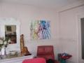PIVOINES Acrylique sur toile 92 x 73 cm