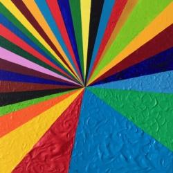 RECTILIGNE  C'est comme vous voulez (s'accroche comme on veut )  Acrylique sur toile  45 x 45 cm